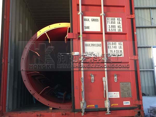 发往阿根廷1.5x17米烘干机装货现场