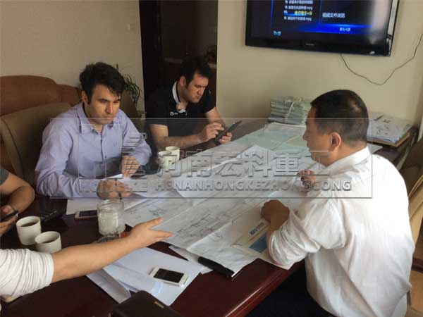 伊朗客户考察海绵铁回转窑设备