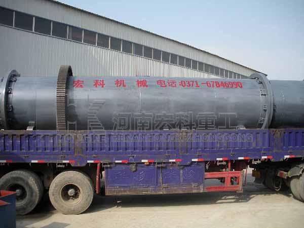 發往江西高安的鎢酸鈉回轉窯發貨現場