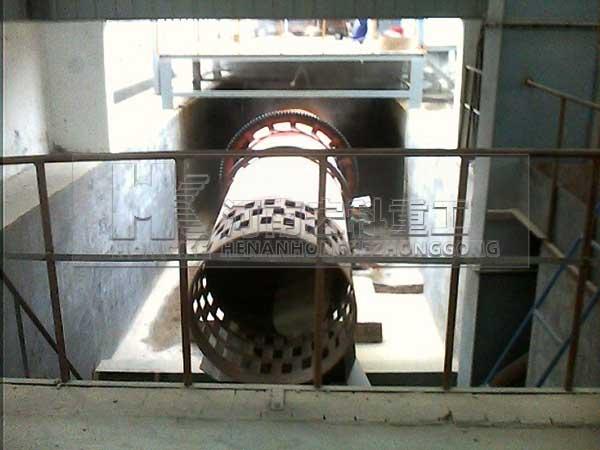 河南宏科重工洛陽陶粒砂回轉窯生產線生產現場