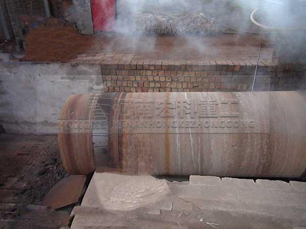 渑池页岩陶粒回转窑生产现场图